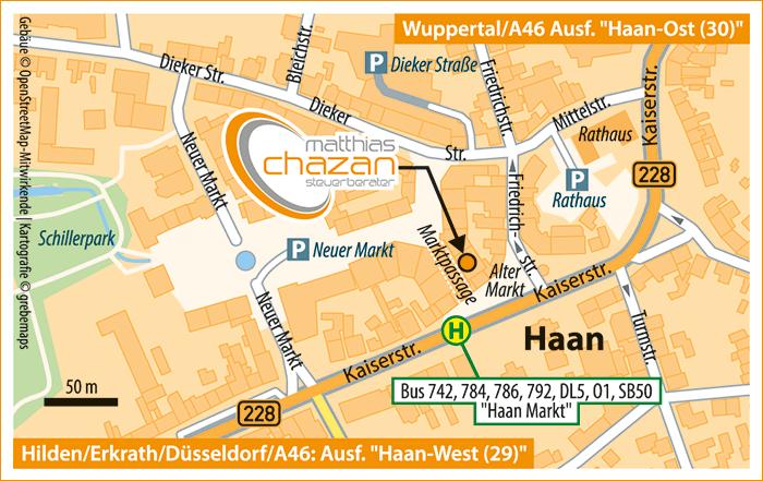 Karte Haan (VK)