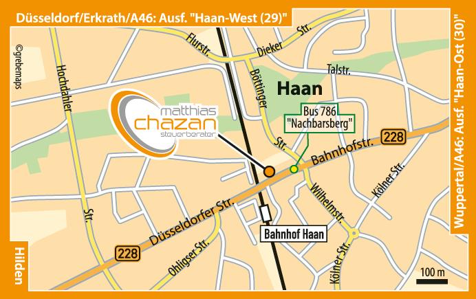 Karte Haan (VK-2)