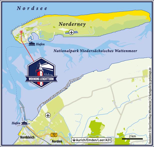 Karte Norderney (FeWo LT)
