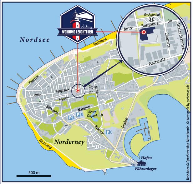 Karte Norderney (FeWo LT-2)