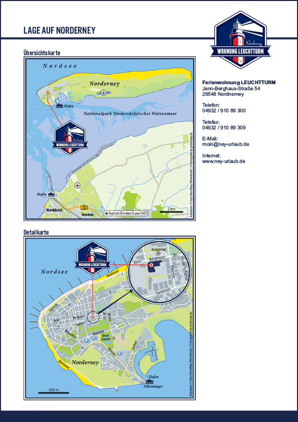 Karte Norderney (FeWo LT-3)