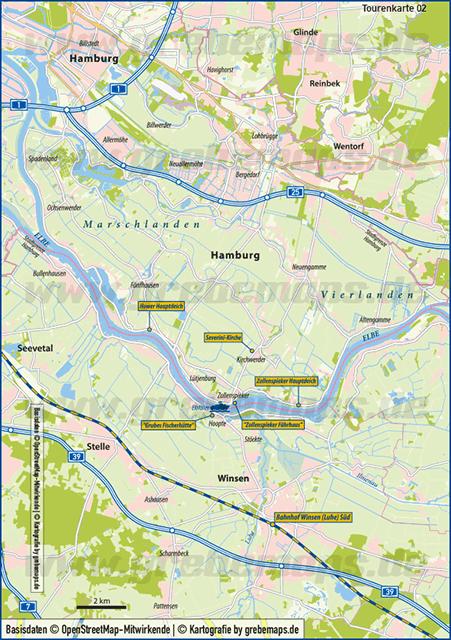 Karte Marschlanden (TouristMap)