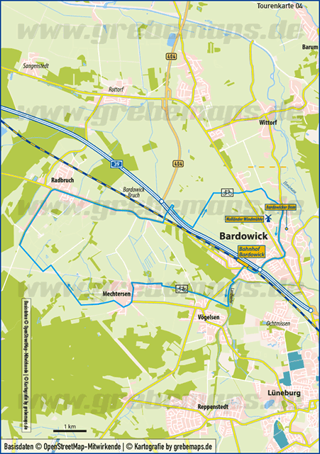 Tourenkarte Bardowick