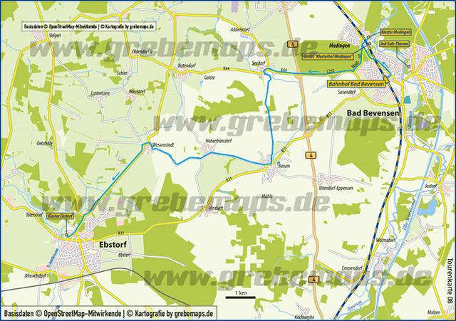 Karte Bad Bevensen – Ebstorf