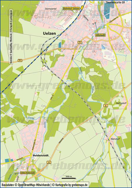 Karte Uelzen – Holdenstedt