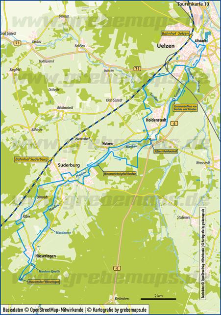 Karte Uelzen – Hösseringen