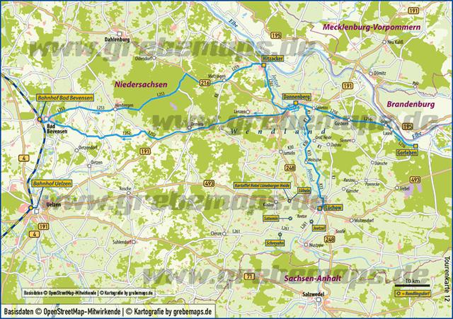 Karte Wendland (TM)