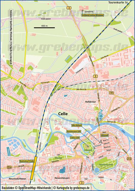 Karte Celle (TM)