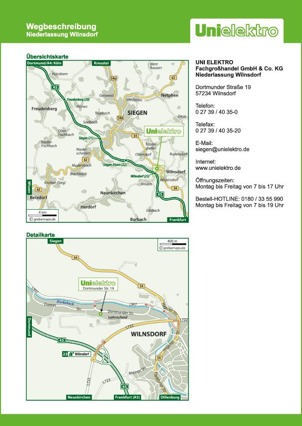 Wegbeschreibung erstellen Karte Wilnsdorf (UE)