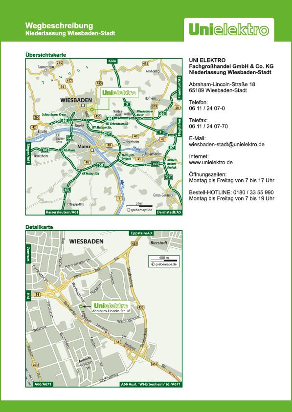 Wegbeschreibung erstellen Karte Wiesbaden (UE)