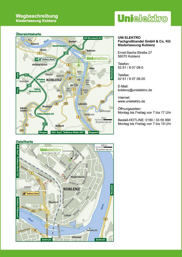 Lageplan erstellen Karte Koblenz (UE)