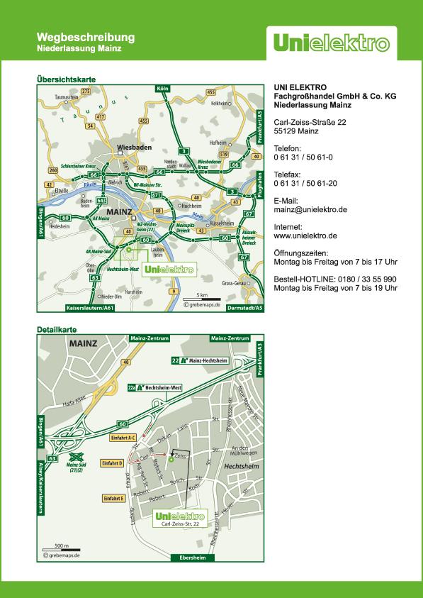 Lageplan erstellen Karte Mainz (UE)