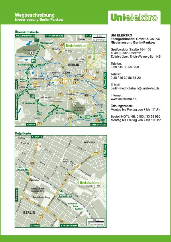 Lageplan erstellen Karte Berlin (UE)