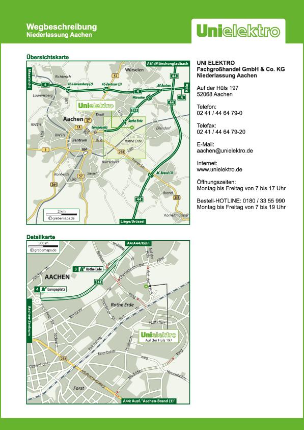 Lageplan erstellen Karte Aachen (UE)