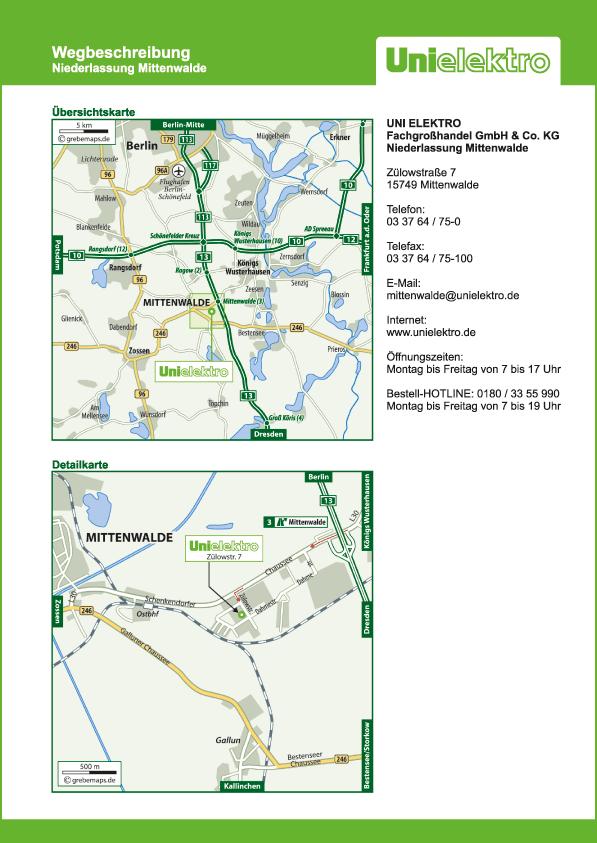 Lageplan erstellen Karte Mittenwalde (UE)