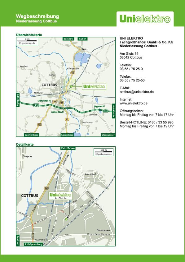 Lageplan erstellen Karte Cottbus (UE)