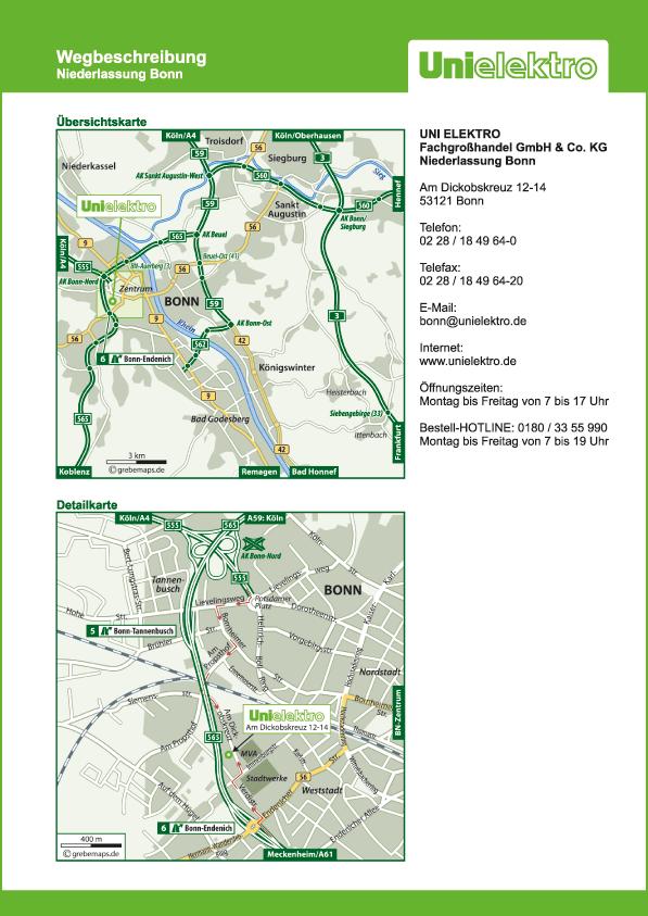 Wegbeschreibung erstellen Karte Bon (UE)