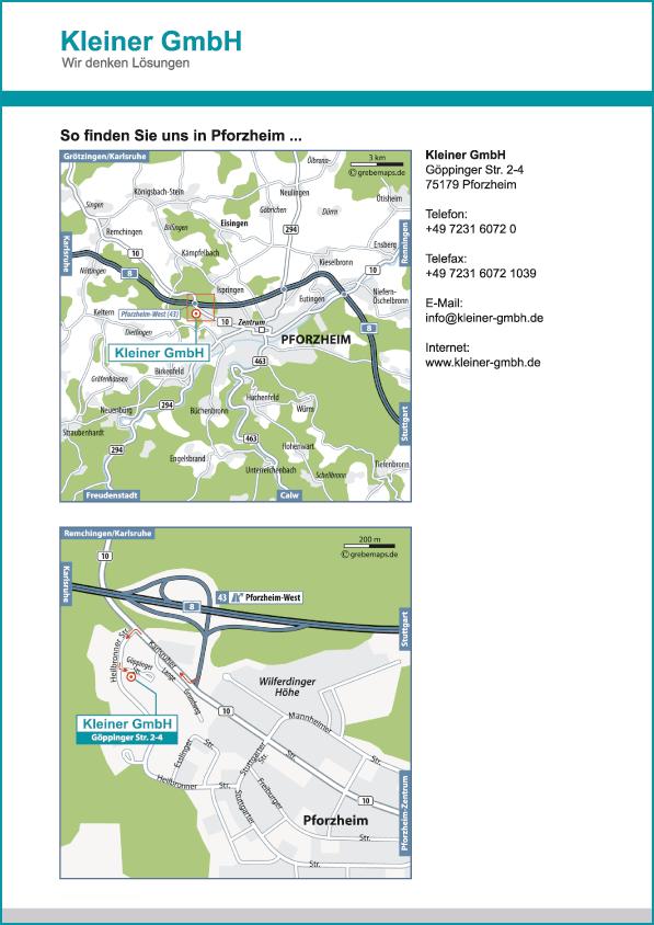 Wegbeschreibung erstellen Karte Pforzheim