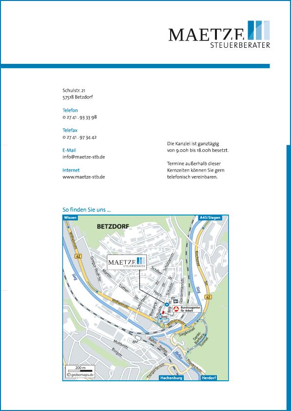 Anfahrtsplan erstellen Karte Betzdorf