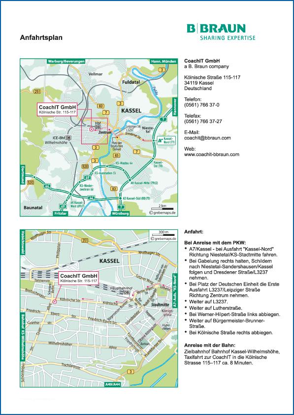 Anfahrtsplan erstellen Karte Kassel