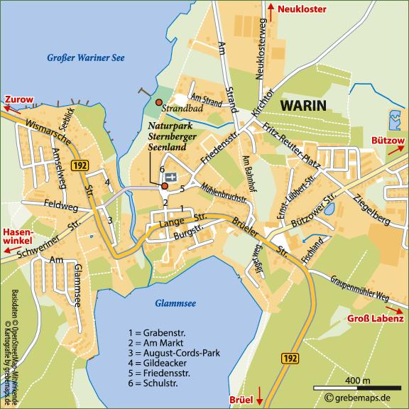 Lageplan erstellen Karte Warin (RM)