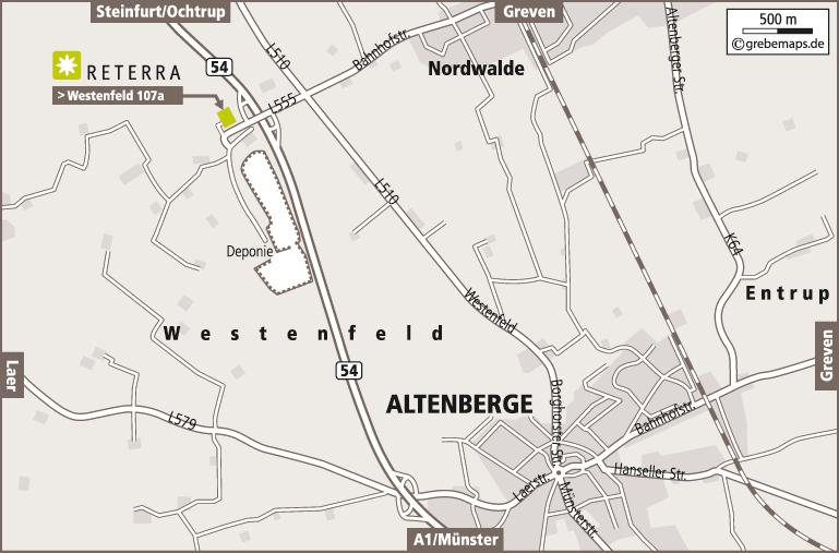 Anfahrtsplan Erstellen Karte Altenberge (Reterra)