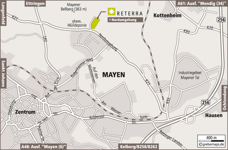 Anfahrtsplan erstellen Karte Mayen (Reterra)