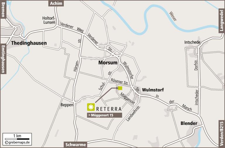 Anfahrtsplan erstellen Karte Morsum (Reterra)