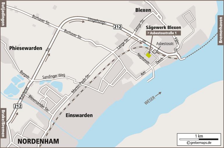 Anfahrtsplan Erstellen Karte Nordenham (Reterra)