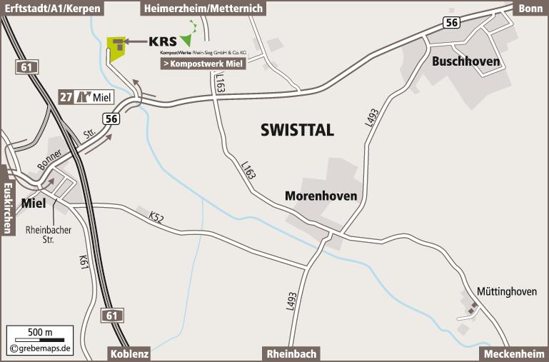 Anfahrtsplan erstellen Karte Swisttal (Reterra)