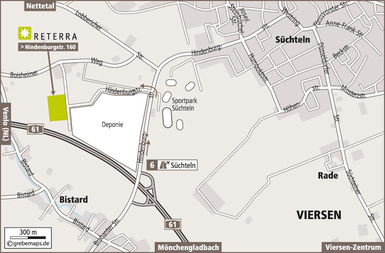 Anfahrtsplan erstellen Karte Viersen (Reterra)