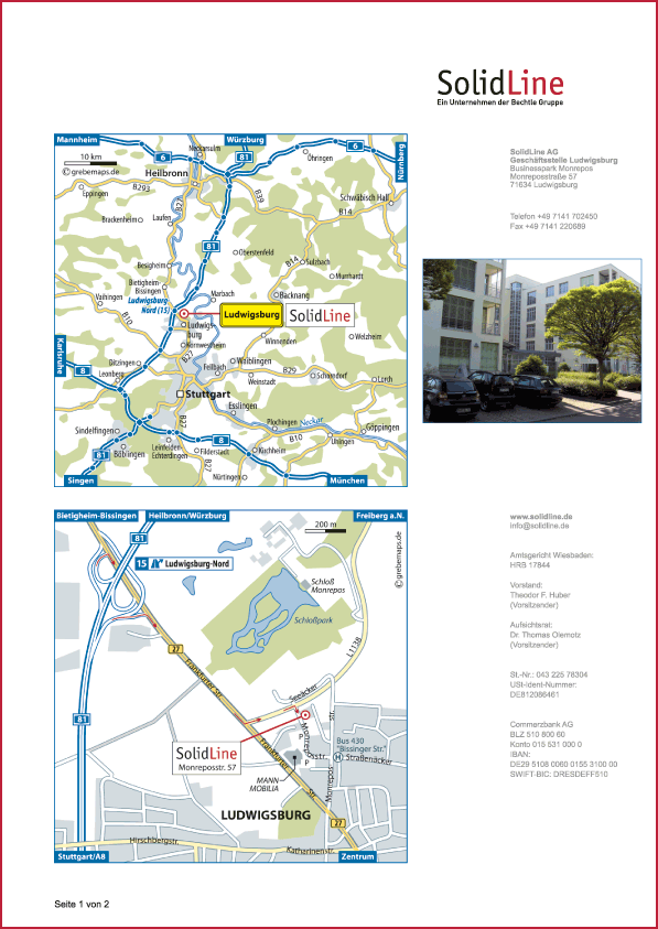Karte Ludwigsburg (SolidLine)