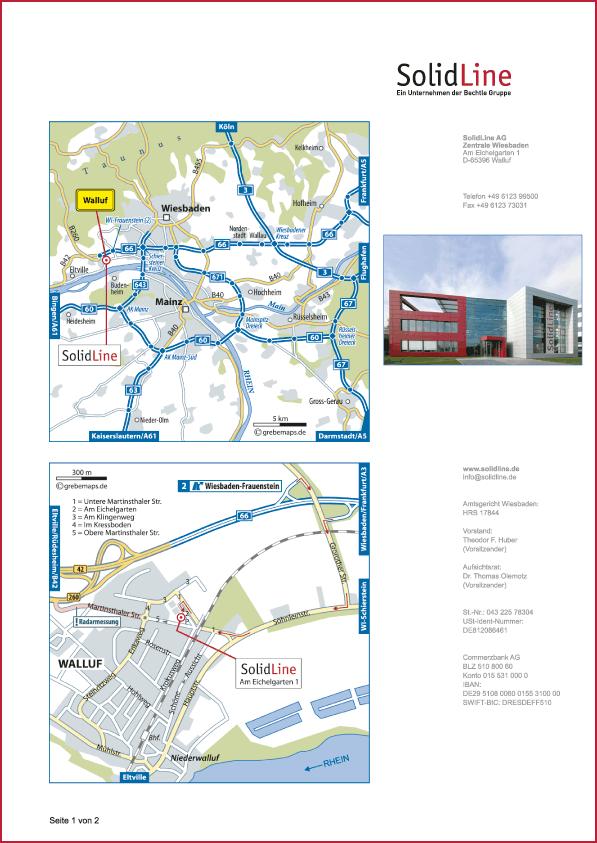Karte Walluf (SolidLine)