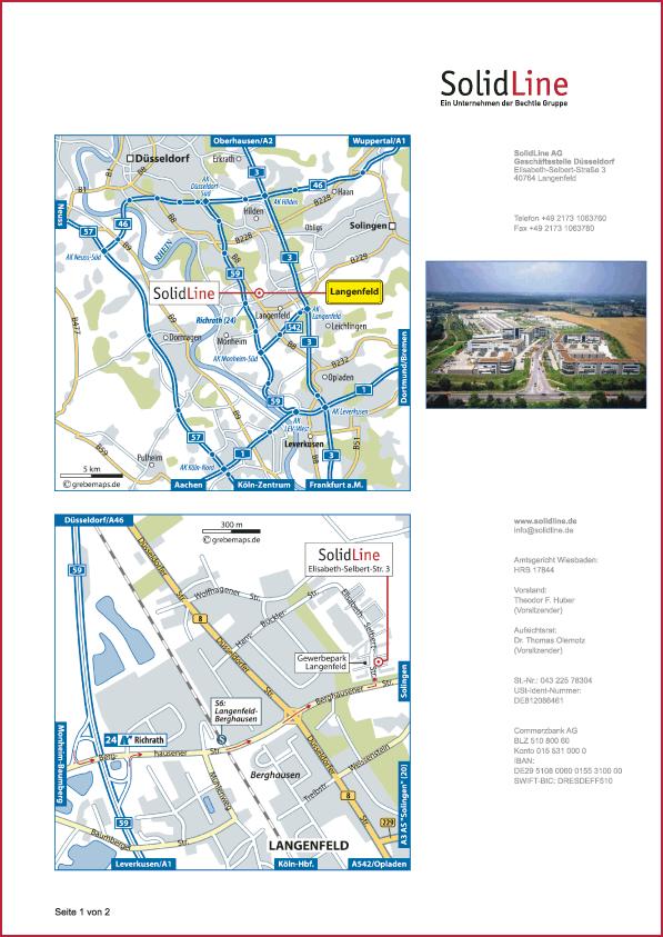 Karte Langenfeld (SolidLine)