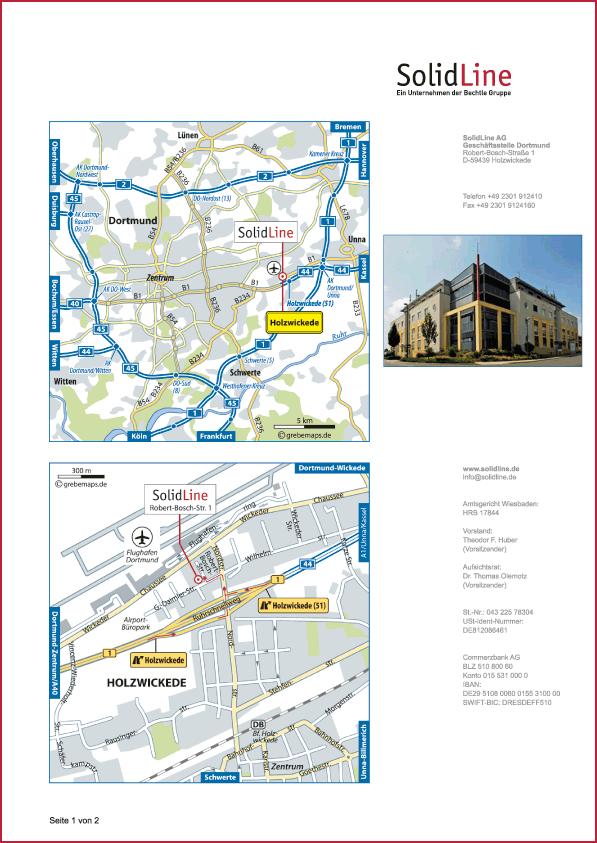 Karte Holzwickede (SolidLine)