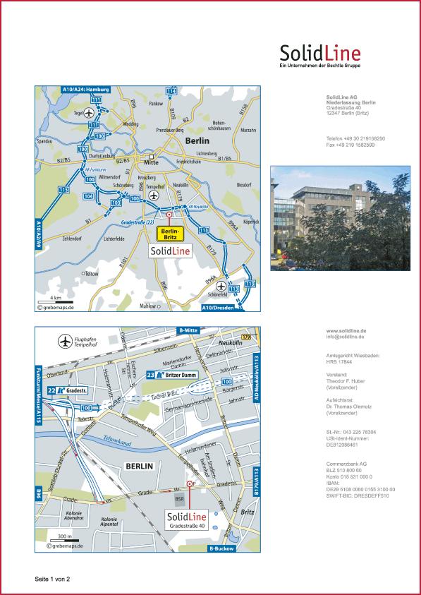 Karte Berlin (SolidLine)