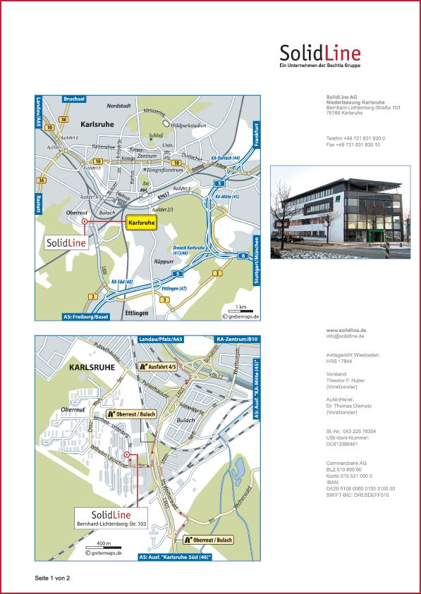 Karte Karlsruhe (SolidLine)