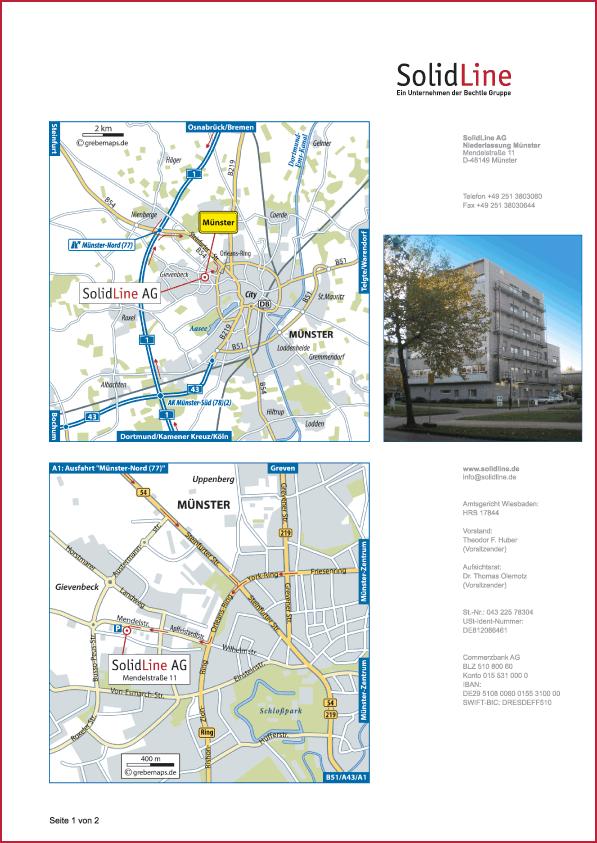 Karte Münster (SolidLine)