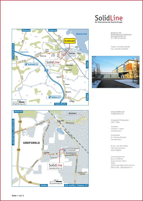 Karte Greifswald (SolidLine)