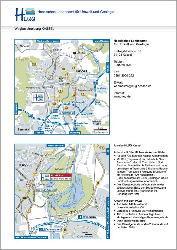 Karte Kassel (HLUG)