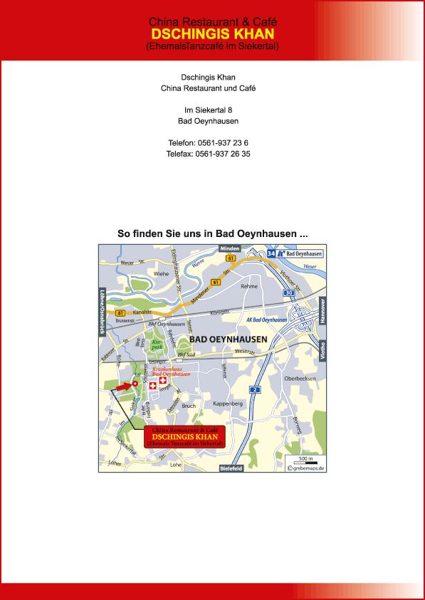 Karte Bad Oeynhausen (DK)