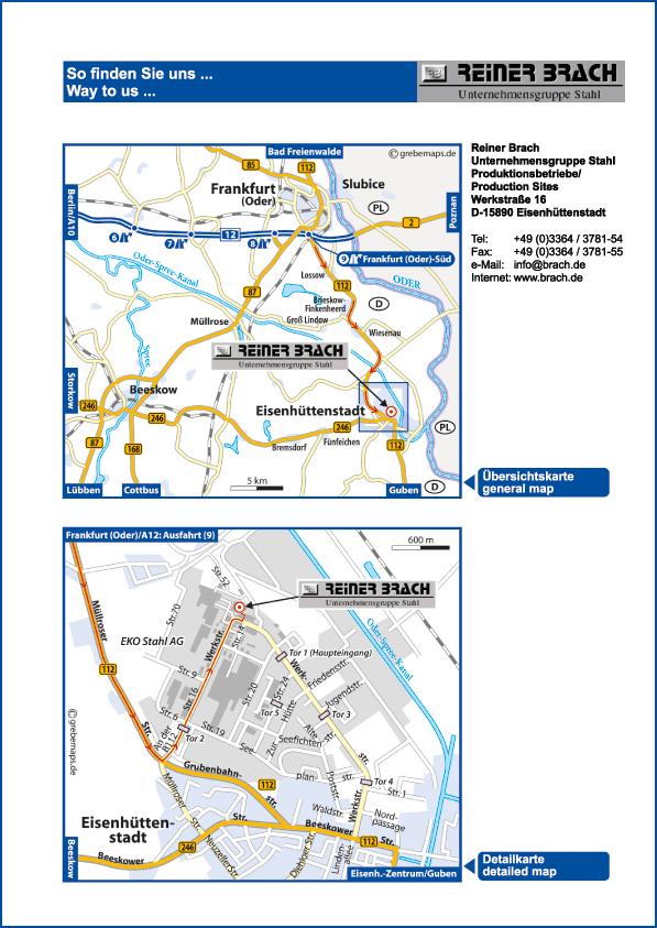 Karte Eisenhüttenstadt (RB)