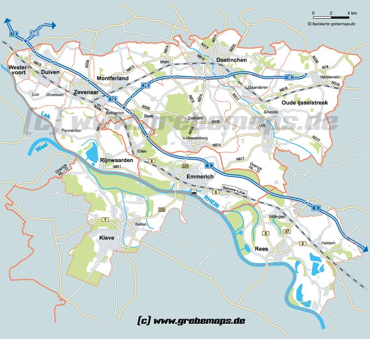 Karte Emmerich et al.