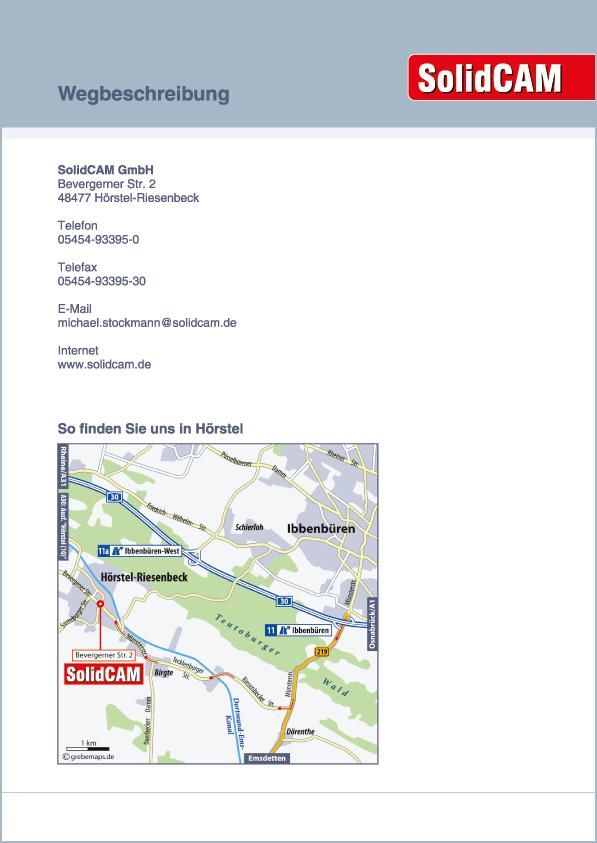 Karte Hörstel-Riesenbeck (SolidCAM)
