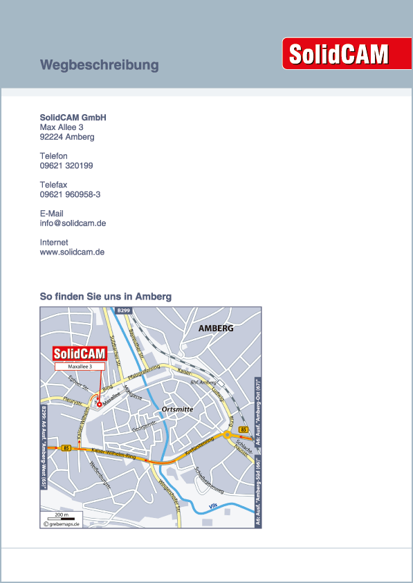 Karte Amberg (SolidCAM)