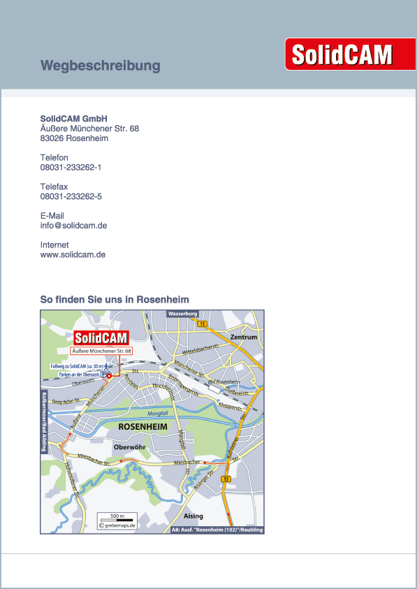 Karte Rosenheim (SolidCAM)