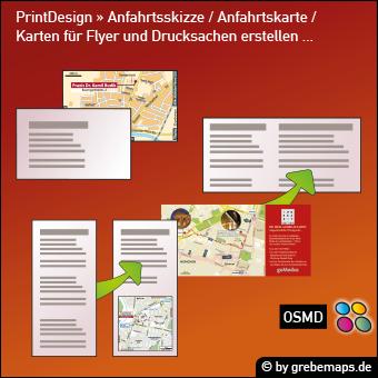 PrintDesign mit Anfahrtskarte