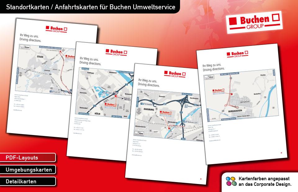 Standortkarten Buchen