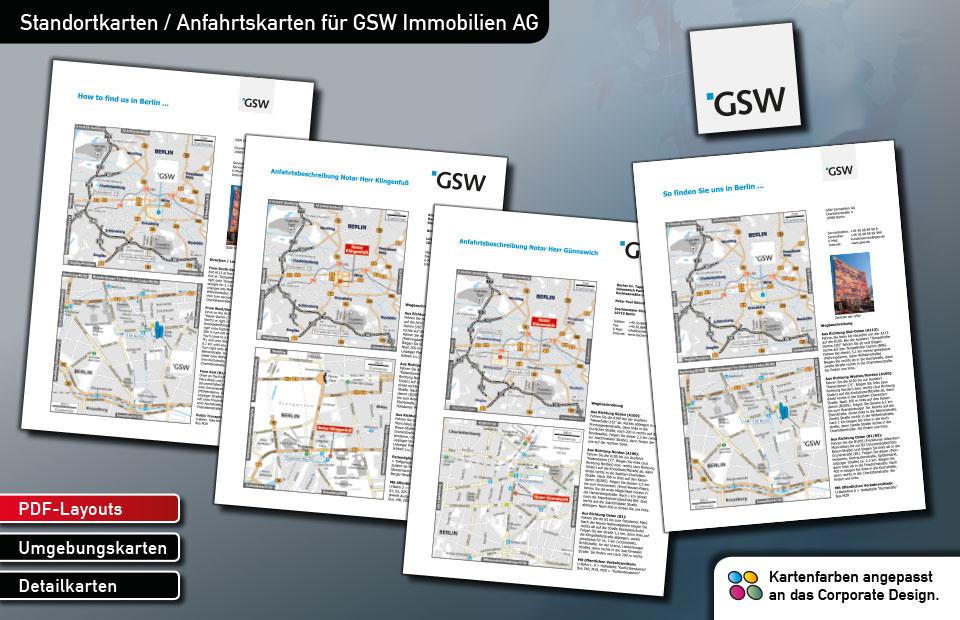Standortkarten GSW