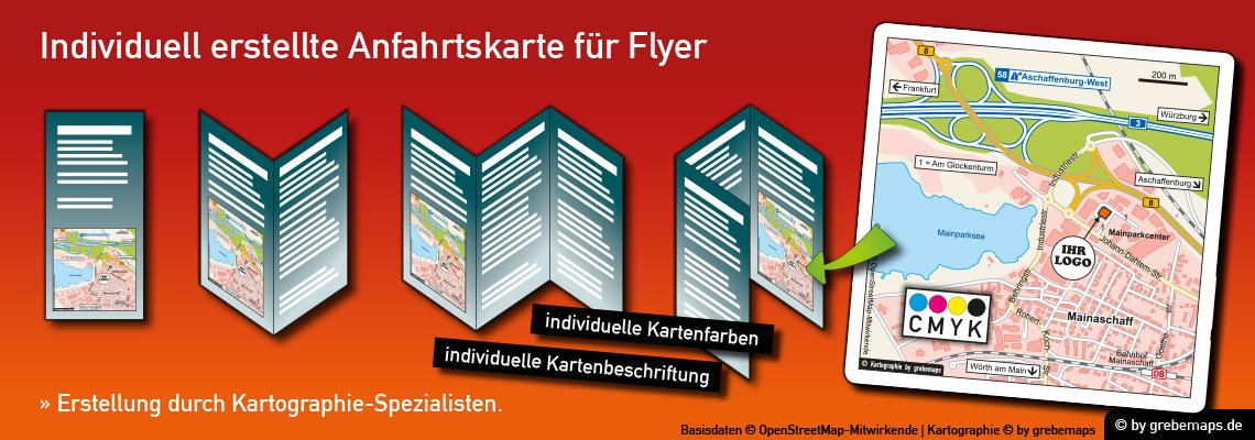 Anfahrtsskizze erstellen, Anfahrtsskizze für Flyer erstellen, Individuelle Anfahrtsskizzen erstellen für Flyer, Anfahrtskizze, Anfahrtsplan, Wegbeschreibung, Lageplan, Lageplan erstellen, Straßenkarte, Strassenkarte, Karte erstellen, Print, Druck, Flyer, Prospekt, Broschüre, Web, Homepage, WebSite, Internet, CMYK, Farbmodus, CMYK-Farbmodell, drucken, kostenlose OpenStreetMap-Daten, Vektor, Illustrator, AI, Datei, erstellen, anfertigen, gestalten